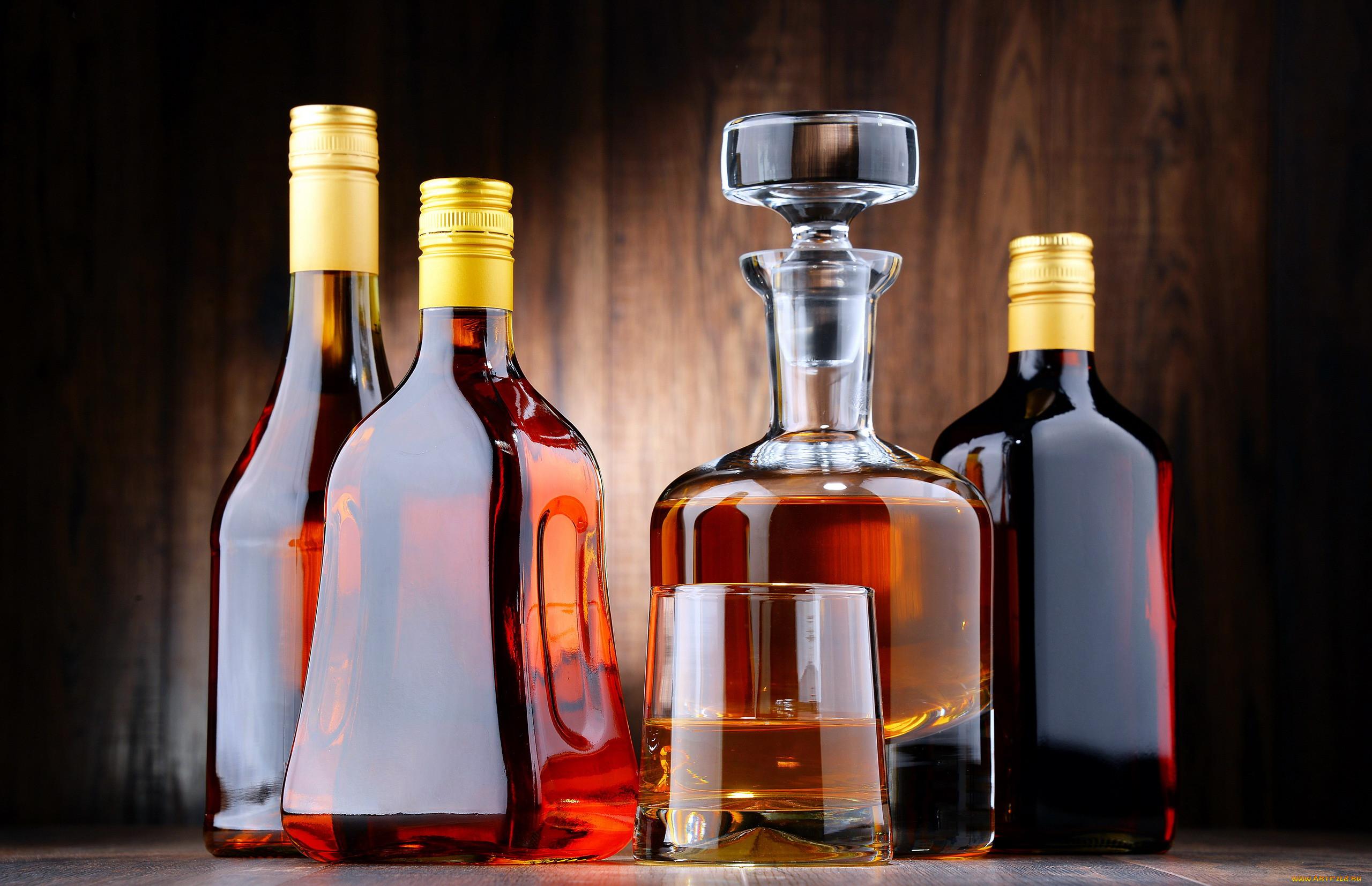 Открытка с алкогольными напитками